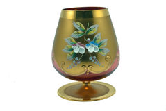 Festive wineglass Stock Images