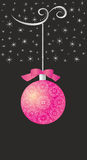 Festive winter background with ball. Editable and scalable Stock Photos