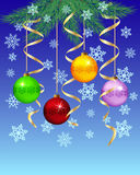 Festive winter background. Christmas, New Year's Eve. Vector illustration Stock Image