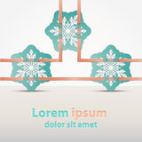 Festive winter banner with snowflakes ribbons. Vector image Royalty Free Stock Images