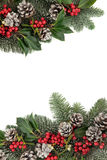 Festive Winter Border Royalty Free Stock Images