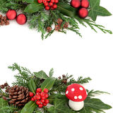 Festive Winter Border Stock Photography