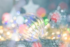 Festive winter holidays background with sparkling christmas lights stock image