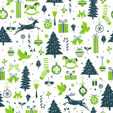 Festive winter pattern Stock Images