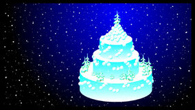 Festive winter white cake stock footage