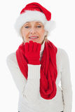 Festive woman blowing a kiss Stock Photography