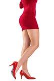 Festive womans legs in high heels Stock Image