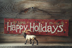 Festive wood sign for the holidays Stock Photography