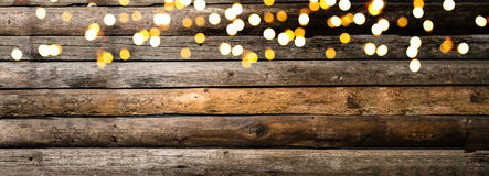 Festive wooden background Stock Images