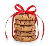 Festive wrapped chocolate pastry cookies Royalty Free Stock Image