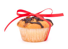 Festive wrapped muffins Stock Photography