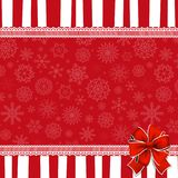 Festive wrapped template with  space for text and ribbon Stock Image
