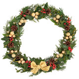Festive Wreath Stock Image