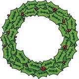 Festive Wreath. A festive, winter cartoon wreath with berries Royalty Free Stock Photos