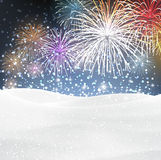 Festive xmas firework background Stock Photos