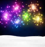 Festive xmas firework background. Festive xmas colour firework background. Vector illustration Royalty Free Stock Photos