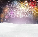 Festive xmas firework background. Festive xmas colour firework background. Vector illustration Royalty Free Stock Photography