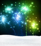Festive xmas firework background. Festive xmas colour firework background. Vector illustration Royalty Free Stock Images