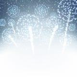 Festive xmas firework background Stock Images