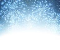 Festive xmas firework background Stock Image
