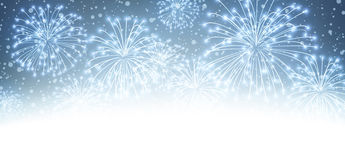 Festive xmas firework background. Vector illustration Royalty Free Stock Photography