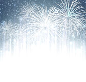 Festive xmas firework background. Vector illustration Stock Photo