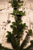 Festive XMas Table Royalty Free Stock Photos