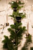 Festive XMas Table Royalty Free Stock Image