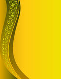 Festive yellow background with ornament. Vector illustration Stock Photo
