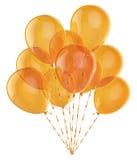 Festive yellow ballons. On white background Stock Photos
