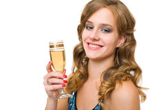 Festive young blond. Stock Photos