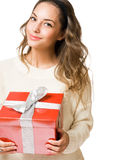Festive young brunette. Stock Images