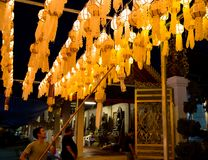 Festivel de la linterna de Yee Peng en Lamphun Imagenes de archivo