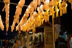 Festivel de la linterna de Yee Peng en Lamphun Fotografía de archivo