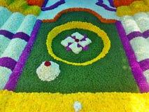 Festivel del fiore di Onam fotografia stock libera da diritti
