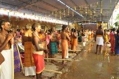 Festivel en templo en el bhavani foto de archivo