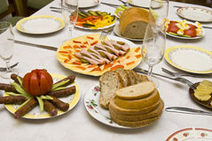 Festively covered table Stock Photography