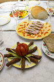 Festively covered table Royalty Free Stock Photos