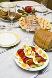 Festively covered table Royalty Free Stock Image