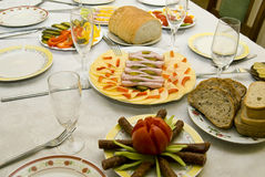 Festively covered table Stock Image