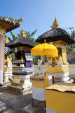 Festively decorated Hindu temple, Nusa Penida Toyopakeh, prov. Bali. Indonesia Royalty Free Stock Photography