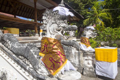 Festively decorated Hindu temple Pura Ped,  in Nusa Penida-Bali, Indon Stock Photography