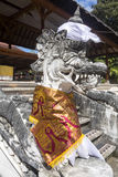 Festively decorated Hindu temple Pura Ped,  in Nusa Penida-Bali, Indon Stock Photo