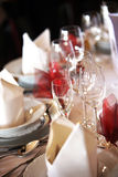Festively decorated table Stock Photography