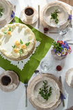 Festively decorated table for a celebration Royalty Free Stock Images