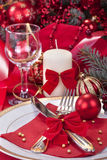 Festively decorated table Royalty Free Stock Photos