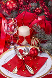 Festively decorated table Stock Image