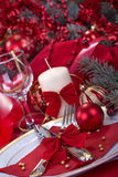 Festively decorated table Royalty Free Stock Photo