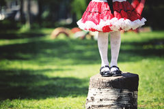 Festively dressed. Little girl in festive attire Stock Image