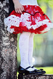 Festively dressed. Little girl in festive attire Royalty Free Stock Photography